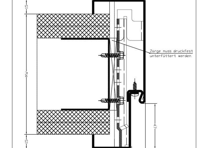 Stahlzarge dwg  Knauf - Türen und Zargen