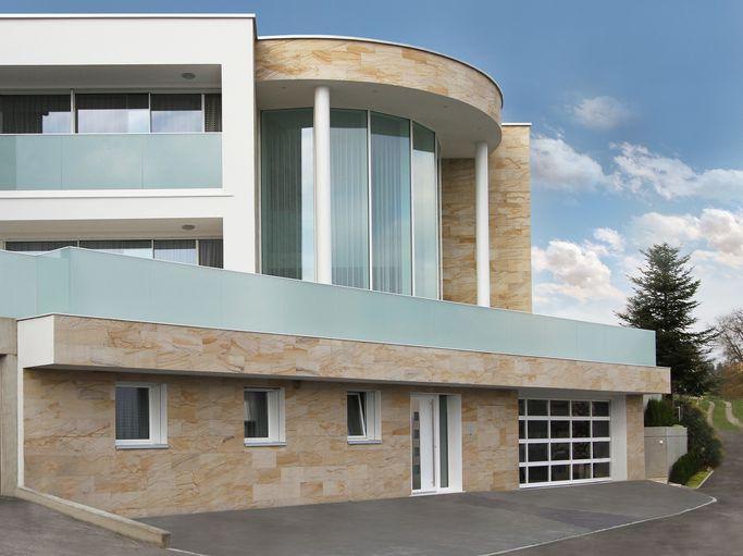 Edle Wandbekleidung   Innen Wie Aussen. Sandstein Design Fassade